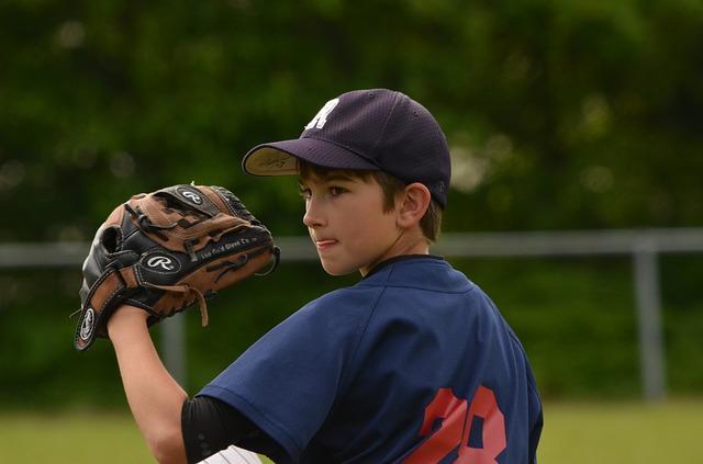 basebolový hráč chlapec