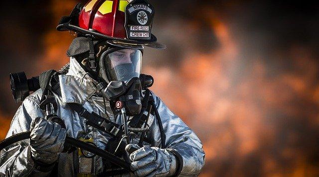 hasič v akci