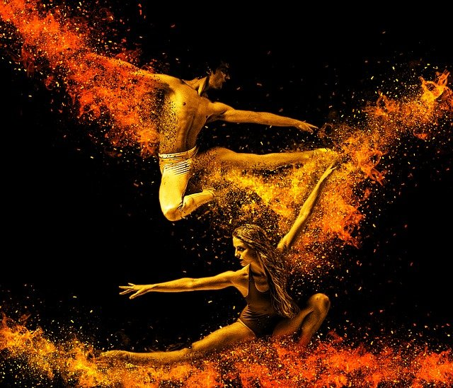 tanečníci akrobati