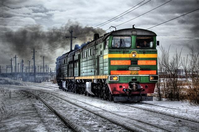 zelená lokomotiva
