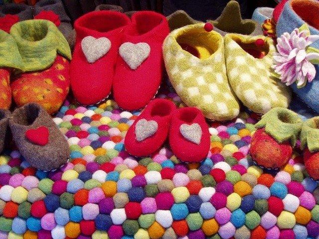 plstěné papuče pro děti