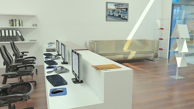 otevřený prostor kanceláře