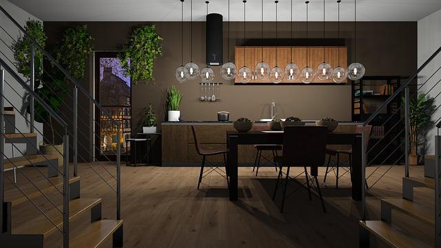 dřevěná podlaha v jídelně
