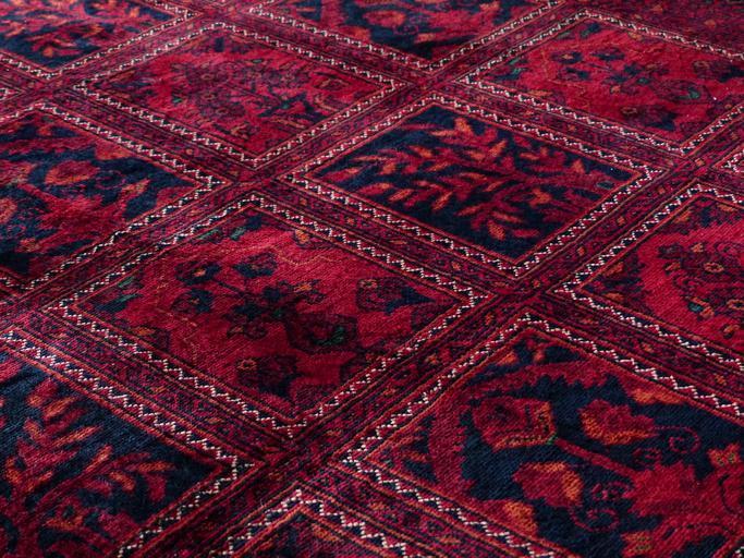 koberec se čtverci