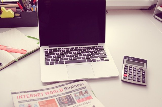 notebook a kalkulačka