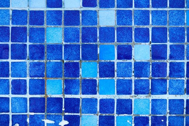 modré keramické obklady